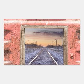 Looking Back Panorama Rectangular Sticker