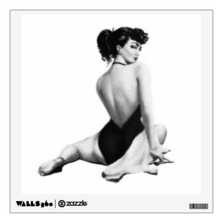 Looking Back Pin-up Girl Wall Sticker