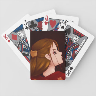 Looking Back - Red Bicycle Playing Cards