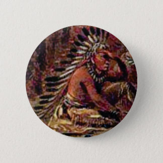 looking chief pinback button