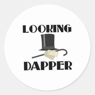 Looking Dapper Classic Round Sticker