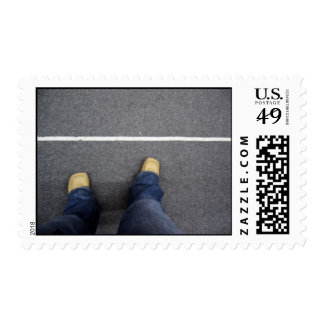 looking down at the divide postage stamp