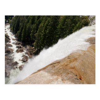 Looking Down from the Top of Vernal Falls Postcard