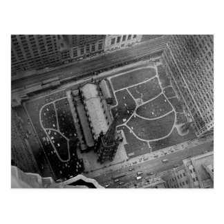 Looking Down on Trinity Church and Cemetery Aerial Postcard