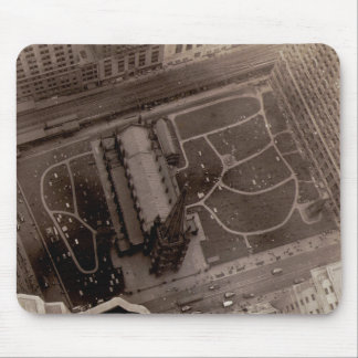 Looking Down on Trinity Church and Cemetery Mouse Pad