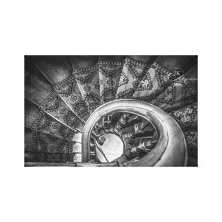 Looking down staircases, Lanarch Castle Dunedin NZ Canvas Print