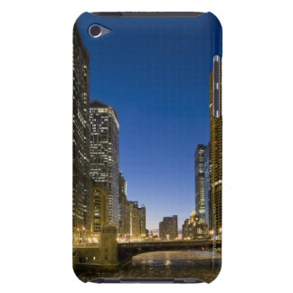 Looking down the frozen Chicago River at dusk. iPod Touch Covers