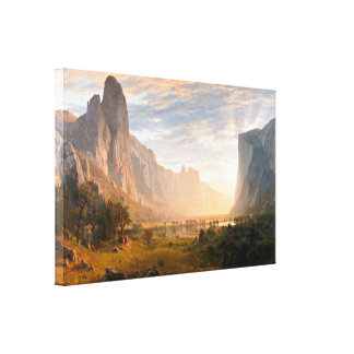 Looking down Yosemite Valley Stretched Canvas Print