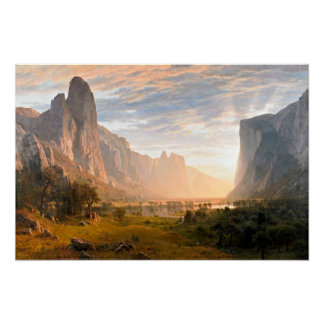 Looking down Yosemite Valley Poster