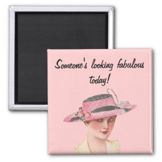 Looking Fabulous 2 Inch Square Magnet
