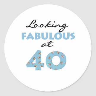 Looking Fabulous at 40 Classic Round Sticker