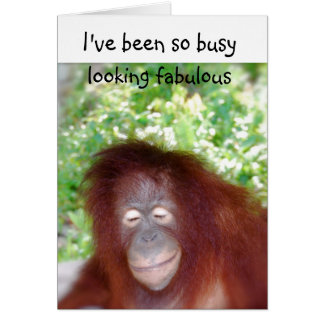 Looking Fabulous Belated Birthday Humor Card