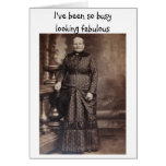Looking Fabulous Funny Belated Birthday Greeting Cards