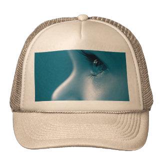 Looking Face Eyes Eyelashes Blue Trucker Hat