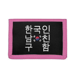 Looking for a Korean Boyfriend 한국인남친구함 Trifold Wallet