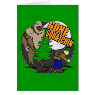 Looking for Bigfoot Greeting Card