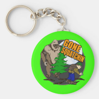 Looking for Bigfoot Basic Round Button Keychain