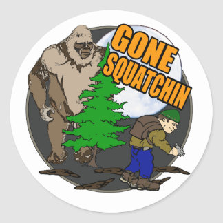 Looking for Bigfoot Classic Round Sticker