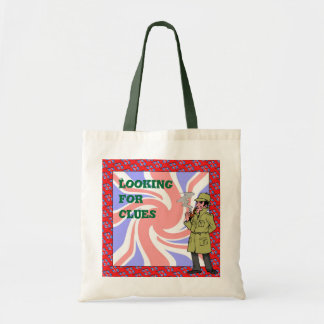 Looking for clues tote bag