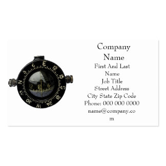 Looking for Direction Military Compass Drawing Business Card