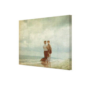 Looking for Fossils Canvas Print