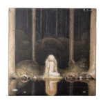 """Looking for her Heart Vintage Fantasy Fairy Tale Tile<br><div class=""""desc"""">Looking for her Heart Vintage Fantasy Fairy Tale from Swedish artist John Bauer</div>"""