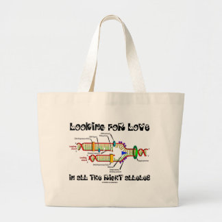 Looking For Love In All The Right Alleles (DNA) Canvas Bags