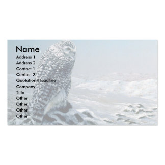 Looking for prey, Snowy Owl Business Card