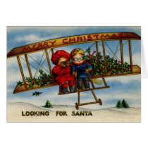 Looking For Santa Vintage Christmas Card