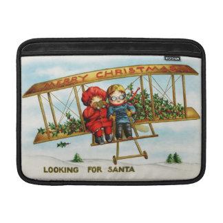 Looking for Santa vintage illustration MacBook Air Sleeve