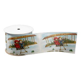 Looking for Santa vintage illustration Satin Ribbon