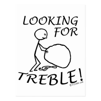 Looking For Treble Postcard