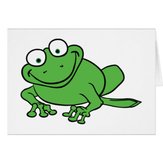 Looking Frog Greeting Card
