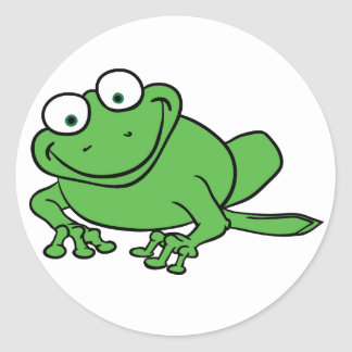 Looking Frog Classic Round Sticker