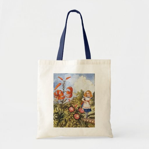 Looking Glass Alice Full Color Budget Tote Bag