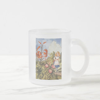 Looking Glass Alice Full Color Frosted Glass Coffee Mug