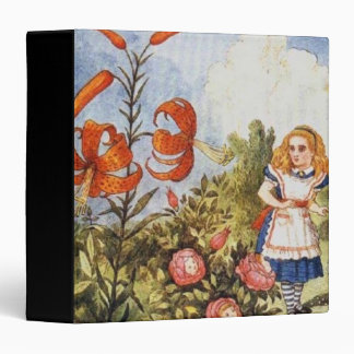 Looking Glass Alice in Full Color 3 Ring Binder
