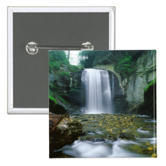 Looking Glass Falls 2 Inch Square Button
