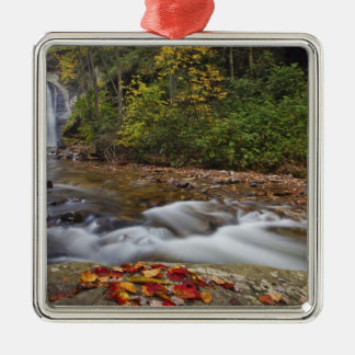 Looking Glass Falls in the Pisgah National Metal Ornament