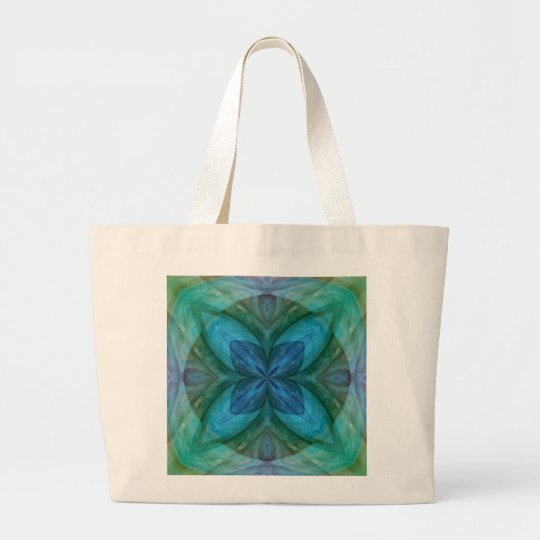 Looking Glass Lily Pad Large Tote Bag