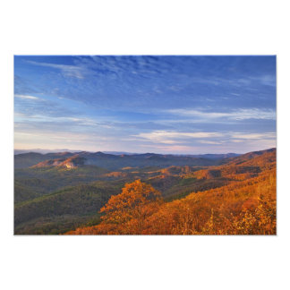 Looking Glass Rock at sunrise in the Pisgah Photo Print