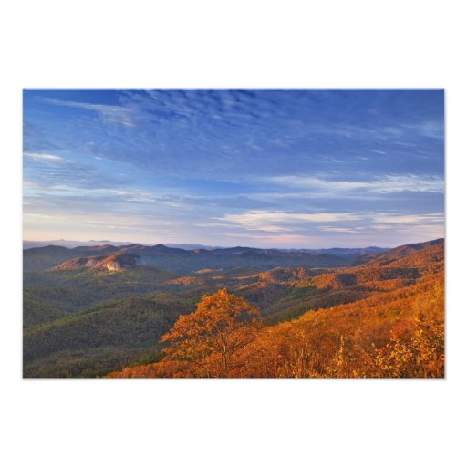 Looking Glass Rock at sunrise in the Pisgah Photo