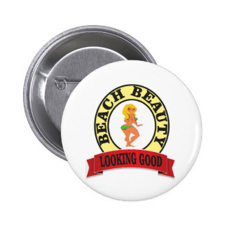 looking good girl fine pinback button