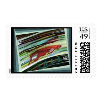 Looking Into A Fishbowl Stamp
