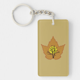 Looking into Leaf Keychain