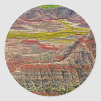 """""""Looking into the badlands"""" collection Classic Round Sticker"""