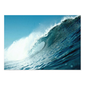Looking into the eye of a breaking wave 5x7 paper invitation card