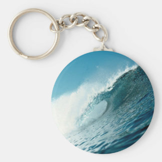 Looking into the eye of a breaking wave keychain