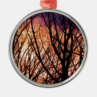 Looking Into The Forest Light Metal Ornament