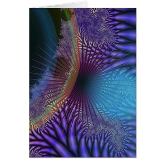 Looking Inward - Amethyst & Azure Mystery Greeting Card